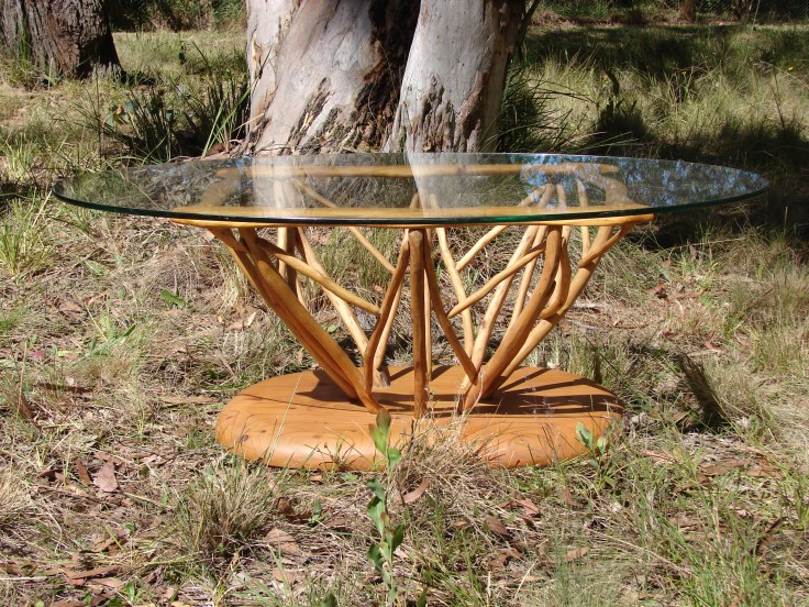 Hardwood Gum Stick Coffee Table