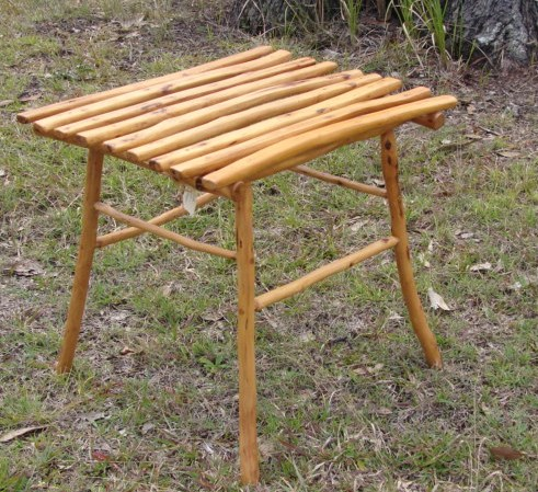 Hardwood Stick Table