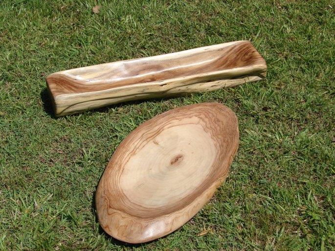 Acacia Bowl and Camphor Platter