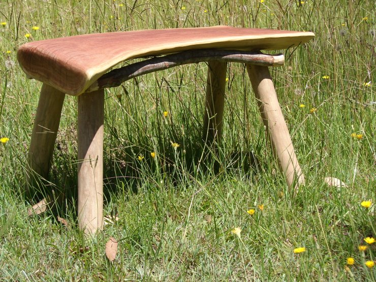 Red gum and Swamp Turpentine Stick seat