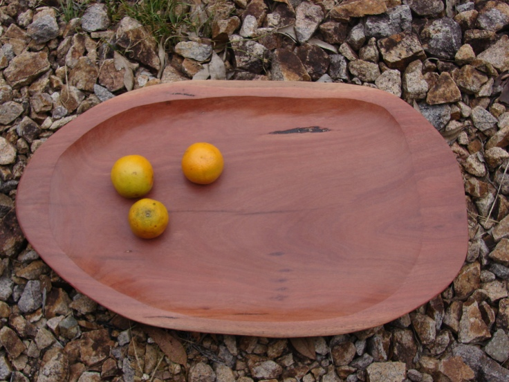 Large Hardwood Fruit Bowl