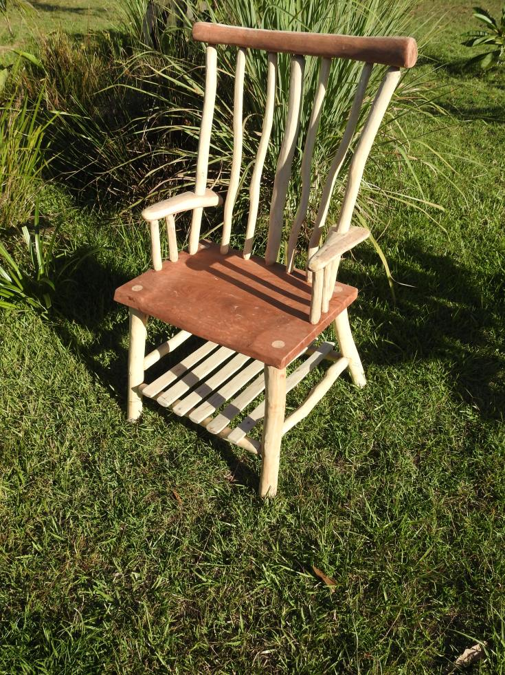 Red gum and Ironbark Chair
